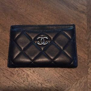 Chanel Navy Card Holder